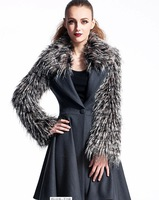 2014 winter new models do in the long section woolen coat thick woolen coat solid color wool winter coat free shipping
