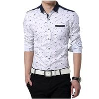 Free Shipping Rsan Long Sleeve Prints Casual Shirt For Men