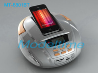 Free shipping Wireless Portable  2.1 Bluetooth Speaker Boombox Radio support USB/SD Card/ MP3 player / WMA Player FM Radio