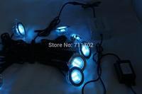 Christmas Outdoor Decoration 12V 1W LED Deck Light Garden RGB Change Color Kit 10pcs lamps + 12W Driver + Controller B108C