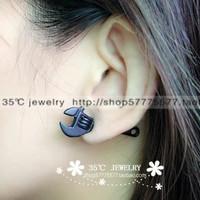 Rowky screw handle earrings male Women