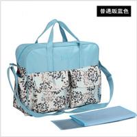 New Fashion Printing High Capacity Mummy Bag Multifunctional Baby Mom Diagonal Bags