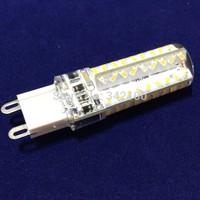 50pcs/lot Mini Crystal LED Corn Lamp G9 SMD3014 72LEDs Led Bulbs  Spotlight AC220V-240V Dimmable Sillcone Body COB Lighting