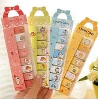 new Free ship 1lot=20pcs/korean stationery kawaii Pure and fresh bowknot post-it notes Cute cartoon students memo pad N sticker