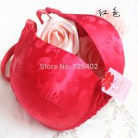Wholesale ZQ-51 Fashion Red Jacquard Anti Allergy Massage Silk Bra Pushup Bras Women Underwear Free Shipping