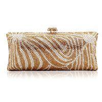 Brand new 2014 ladies handbags fashion diamond Wristlet oblique cross chain 3016B Gold Diamond luxury lady Gao Duanbao