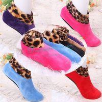 1 Pair Autumn Winter Double Plush Warm Skid Ladies Anklets Foot Legs Warmer Household Women Floor Socks Free Shipping