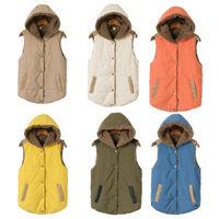 Women Warm wool liner Hooded Thick Fleece Waistcoat Vest Coat Jacket Outerwear Tops winter 6colors M L XL XXL XXXL large size