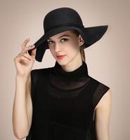 High Quality 2015 Fashion New Vintage Women Ladies Floppy Wide Brim 100% Wool Felt Fedora Cloche Hat Cap Chapeu Feminino M00012R
