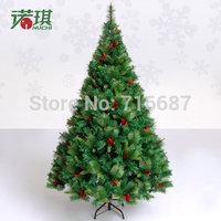 2.1 meters luxury encryption red pinecone crabapple Christmas tree