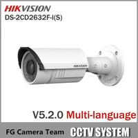 Free Shipping 9pcs/lot DS-2CD2632F-IS 3MP Bullet Camera HD 1080P POE Power Network 2.8-12mm Vari-focal Lens Hikvision IP Camera