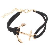 18k gold bracelet fashion woman hot Korean velvet woven Anchor bracelet 98119