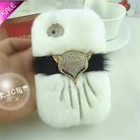 Rex rabbit hair for iPhone6 5s  4S 6 Plus phone case  fur mobile phone case for  for SAMSUNG   note3 s4 s5 s3 note2