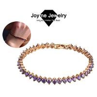 Joyme 2014 new Top Quality Luxury Round Swiss Cubic Zirconia Bracelets for women Wedding Jewelry Bracelet & Bangles BR0015