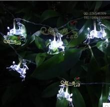 Reindeer Christmas lights holiday lights LED Christmas tree lights LED battery lights flash lamp set normally on flicker(China (Mainland))