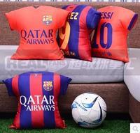 14-15 new season MESSI   NEYMAR JR home and away jerseys  Pillow  45CM tuba,  SUAREZ Cushion