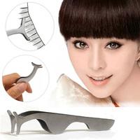 2Pcs Modern Beauty Tool False Eyelashes Extension Clamp Auxiliary Tweezers Clip