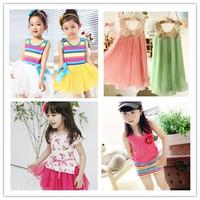 girl Dress Kid Clothing Children's Wear NOVA Fashion New 2014 Summer dress for Girls Toddler Princess Dress baby girl