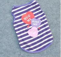 Pet Supplies Pet Clothing Wholesale striped  breathable cotton t-shirt puppy dog Teddy Poodle