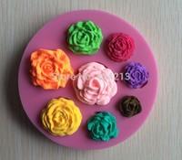 New & Hot Beautiful Beautiful flower shapes Modelling Fondant Decoration Mold Silicone Cake Chocolate Mold -P125