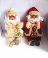 ZYF-002 Christmas Decorations Lovely Santa Claus doll 2pcs/lot lenght 25cm  New Year Christmas gift