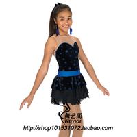 Professional custom figure skating dress figure skating costumes children clothing adult female Skating Skirt HBF1020