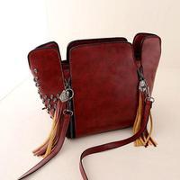 Fashion vintage style punk style rivet messenger bags Women shoulder bags with high quality bag big discount bag -8