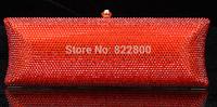 2014 Crystals Evening bag,Women Fashion Hard Case Metal Purses Party Handbags , CB5016A-3