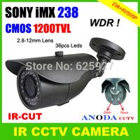 Latest High Performance 1200TVL Super WDR SONY 238 CMOS CCTV Camera 2.8-12MM Varifocal Lens OSD Menu Surveillance Video Camera