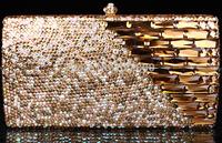 2014 Crystals Evening bag,Women Fashion Hard Case Metal Purses Party Handbags , tokay,CB6021-2