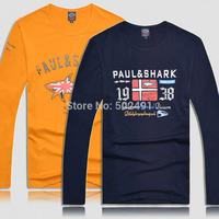 New Mens Long Tee T shirts Casual Tops Fashion 2014 Brand Designer Men's Classic Sport Yachting Long Sleeves T Shirt Size:XXXL-M