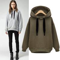 Autumn Casual Hoodies Long Sleeve Loose Women's Hoody Pullover Woollen Sweater Hoodies Women Free Shipping S-XXL