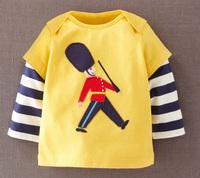 Little maven children's clothing small male child baby long-sleeve T-shirt 100% cotton basic shirt