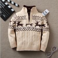 Retail boy winter autumn infant baby Cartoon sweater boy girl child turtleneck sweater children outerwear sweater child clothing
