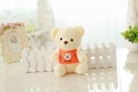 Free shipping mini size bear plush toy teddy bear soft stuffed doll Christmas gift 3 pieces/lot