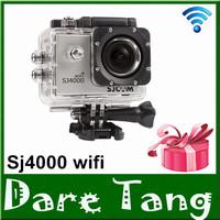 1 pcs Free gift +Original SJCAM SJ4000 Wifi Version Sport DV Action Camera Full HD Car DVR DV 30M Waterproof Action camera