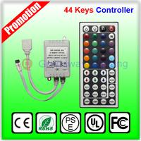 Free shipping 44keys IR remote controller for RGB 12V SMD 5050 3528 LED strip Box Receiver RGB controller