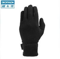 Outdoor men and women fleece winter gloves warm wind cost QUECHUA