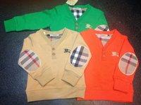 Wholesale  Brand  fashion  spring/autumn  children's  sweatshirts  long sleeve  V-Neck  striped  pattern  boy's  sweatshirts