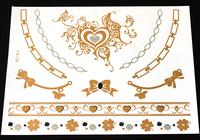 Top Quality MetallicTattoos Angel ButterflyTemporary Tattoo Flash tattoos 4 pcs/lot  SKU: FT-08
