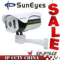 SunEyes SP-P704Z ONVIF PTZ IP Camera Outdoor 720P HD with TF Slot Pan Tilt Zoom Array IR Night Vision 100M