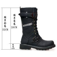 winter fashion male boots,cowboy men boots Black color Size38-44