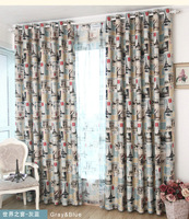 Eco-friendly Curtains For Kids Cartoon Curtains + Tulle/ Sheer curtains for  Boys  room