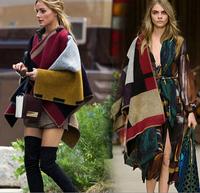 new arrival fashion women designer imitated cashmere pashmina ,winter warm poncho 0010