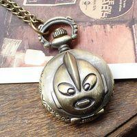 New arrival hot sale russia bronze ultraman pocket watch necklace bronze cartoon for girls children