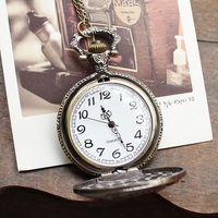 New arrival hot sale russia stylish bronze London Bridge pocket watch necklace vintage women