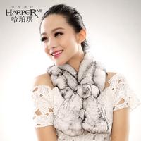 2014 winter rex rabbit hair single lotus leaf fur muffler scarf thermal female rabbit fur shawl