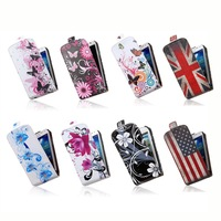 Exclusive Nation Pattern Design Up Down Flip PU Leather Phone Cases Bags for Samsung GALAXY Ace 2 i8160 Case Cover Skin Shell