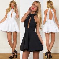 014 The new ballet skirt hanging neck hole yarn one-piece dress fashion mini bodycon dress frozen dress elsa dress