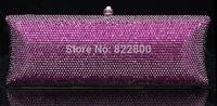 2014 Crystals Evening bag,Women Fashion Hard Case Metal Purses Party Handbags , CB5016A-2